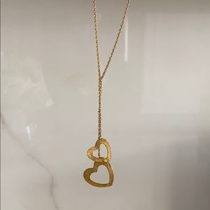 Saks Double Heart Necklace
